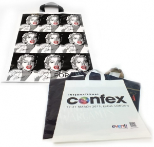 Custom patch handle bags