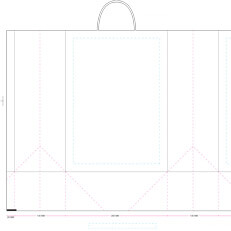 Twisted Paper Bag Template 260 x 130 x 360