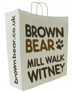Brown Bear Mill Walk Witney Paper Bag 450