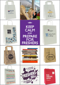 Freshers Week Bags, university bags, printed bags for open days, printed mailing bags for prospectus.