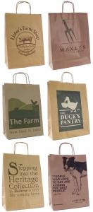 Custom Printed Paper Bags for Farm Shops