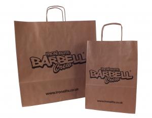 Printed brown paper bags, printed paper bags, branded paper bags, exhibition paper bags