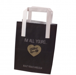 Small printed paper bags, Glitter lips bag,