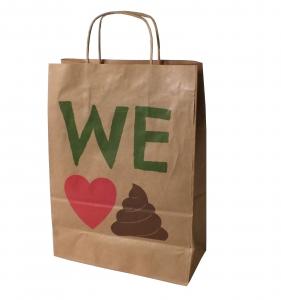 Printed paper bag, paper bag manufacturer UK