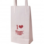 printed white paper bags