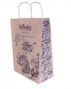 printed patch handle carrier bag