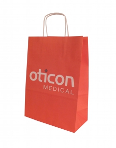 Clear plastic bags with logo